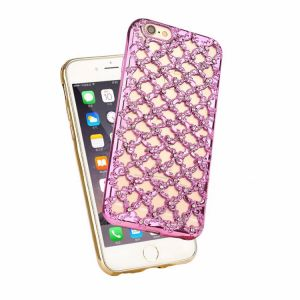 Wholesales Popular Luxury Electroplate Diamond Soft TPU Phone Case for iPhone 7