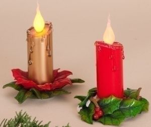 Xmas Candle Holder Candle Stick Craft Ornament