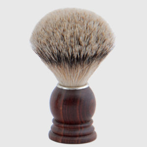 Wooden Handle Silver Tip Badger Hair Sv-333 Late Fashionable Style Makeup Cosmetic Brush