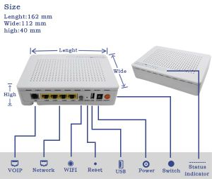 Gpon ONU with WiFi Router FTTH Equipment Optical Unit
