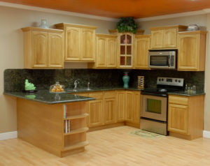 Hard Maple Solid Wood Frame Less Upper Kitchen Cabinets and Lower Cabinets