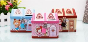 Mini House Shaped Tin Money Box pictures & photos