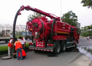Sewage Suction Truck with Jetter Flushing