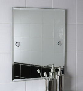 Silver Bathroom Mirror with Beveled Edge Wholesales pictures & photos