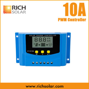 PWM 10A Solar Charge Regulator Controller with USB Charge 12V 24V LCD Display