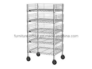 Mobile Wire Shelving with 5-Tier for Warehouse pictures & photos