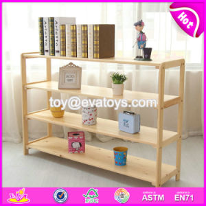 Wholesale Cheap Decorative Wooden Storage Racks with High Quality W08c230 pictures & photos