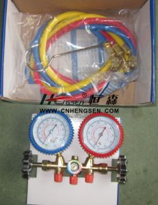 Professional OEM Manufacturer of CT-536 G F Brass Manifold Gauge Set Double Gauge Manifold Set Air Conditioner Parts Refrigeration Parts Refrigeration Tools pictures & photos