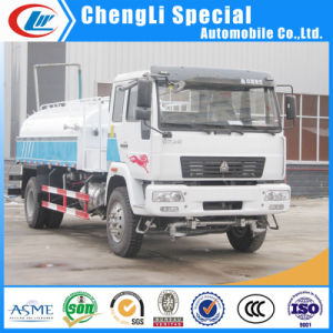 Sinotuck HOWO 4X2 15000liters 15cbm Spray Water Tanker Truck for Sale
