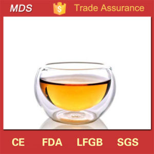 Hot Selling 50ml Double Wall Glass Tea Bowl for Gifts pictures & photos