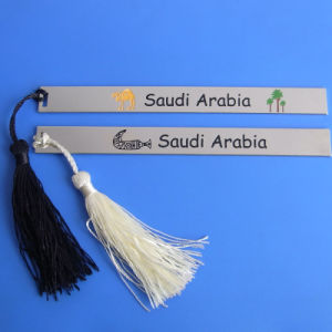 Logo Engraved Saudi Arabia Metal Book Marker Promotional Gifts pictures & photos
