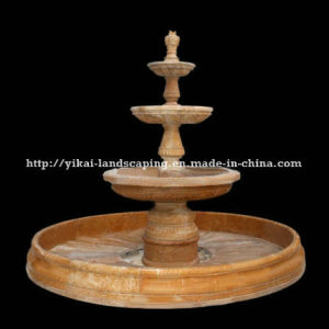 Hand Carved Outdoor Stone Fountain (YKOF-129)