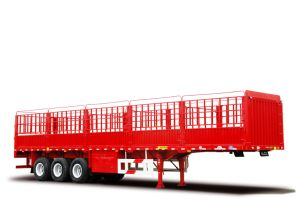 40 Tons 3 Axles Box Stake Truck Trailer / Cargo Trailer
