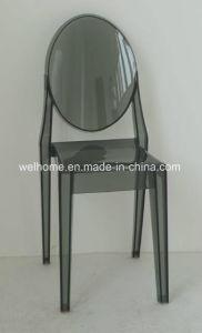 Transparent Black Ghost Chair