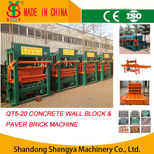QT5-20 Semi-Automatic Hydraulic Paver Brick Making Machine pictures & photos