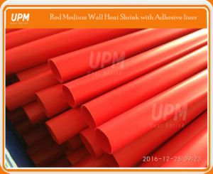 Customized Red Color Medium Wall Heat Shrink Sleeve