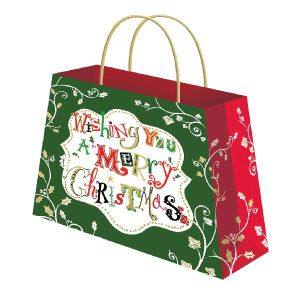 Custom Printed Gift Packaging Christmas Paper Bag with Handle pictures & photos