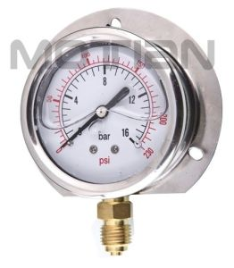 Glycerin Silicon Liquid Oil Filled Bourdon Tube Pressure Gauge