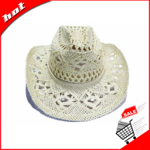 White Paper Straw Vent Cowboy Hat pictures & photos