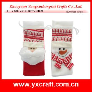 Christmas Decoration (ZY13L433-1-2 34CM) Red Christmas Gift Bag pictures & photos