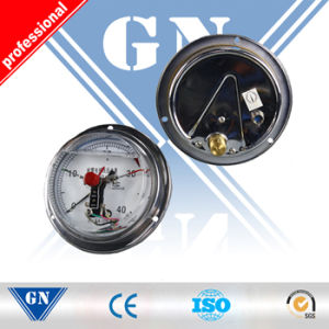 Cx-Pg-Sp Electric Contact Oil Filled Air Pressure Gauge (CX-PG-SP) pictures & photos
