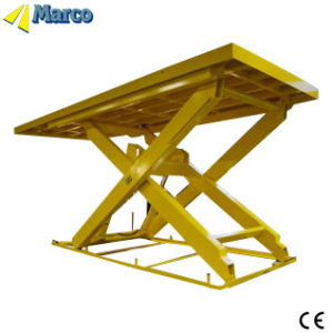19 Ton Marco Single Scissor Lift Table with CE Approved pictures & photos