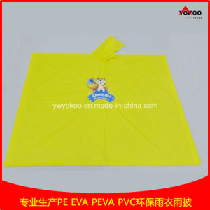 Reusable PVC Rain Poncho with Cmyk Logo Printing for Promotion