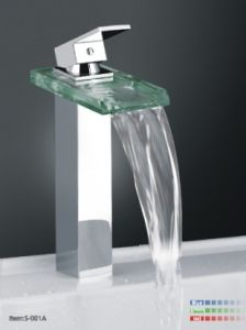 Tempered Glass LED Wasserhahn Basin Mixer /S-001