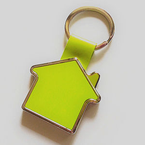 Promotion Zinc Alloy Gift House Keyring with Client Logo (F1023)