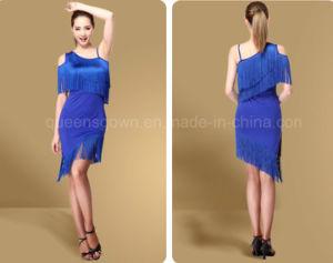 3606fa78c China Custom Womens Girl Ballroom Latin Fringe Tassel Dance Dress ...