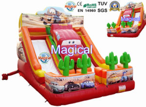 Hot Sale Amusement Game Kids Toy Inflatable Car Slide (MIC-947) pictures & photos