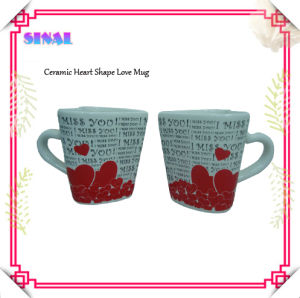 Ceramic Heart Shaped Cup, Gift Mug, Love Mug, Souvneir Mugs