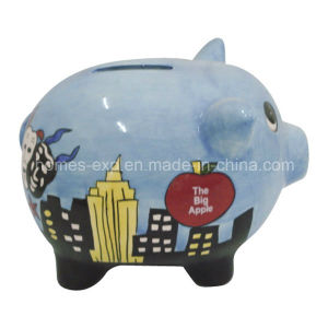 China Popular Home Decor Ceramic Piggy Money Bank H Jf 04659 China Money Bank And Promotional Gift Price
