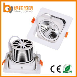 AC85-265V Square LED Ceiling Light 10W Indoor COB Lamp Shake Head Downlight pictures & photos