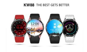 OLED Screen Smart Watch Kw88 with Android 5.1 Smart Watch Phone Bluetooth 4.0 WiFi Heart Rate Monitor