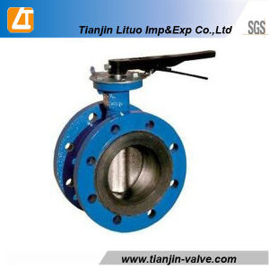 DIN/ANSI Cast Iron Wafer Double Stem Butterfly Valve pictures & photos