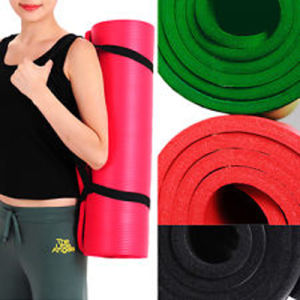 Wholesale Cheap Manufacturer Natural Rubber Exercise Yoga Mats with Carry Strap pictures & photos