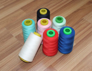 Colourful Spun Polyester Sewing Thread with Polyester Dyed Yarn OEM