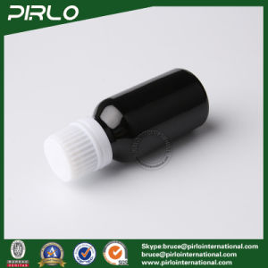 20ml Black Glass Bottles with Tamper Evident and White Cap pictures & photos