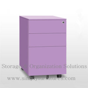 Under Desk Metal Rolling File Cabinet for Office pictures & photos