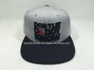China Custom Flat Brim Snapback Cap Writh 3D Embroidery Logo Design ... a23219b2b5b1