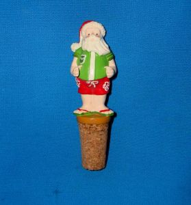 Funny Santa Bottle Stopper for Christmas Decoration pictures & photos
