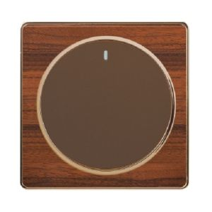 British Standard 1 Gang Wood-Textured Refined Wall Switch