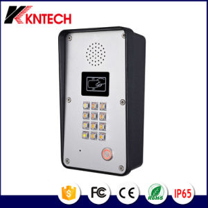 Metal Button Handsfree Entry Phone Weather Protection IP65 Kntech Knzd-51 pictures & photos