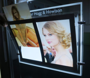 Crystal Light Box with Acrylic Frame and Etching Logo pictures & photos