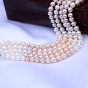 Five Rows Freshwater Pearl Bracelet pictures & photos