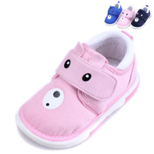 China Canvas Prewalker Baby Shoes with