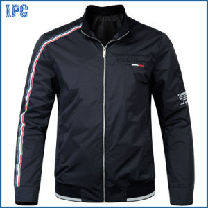Black Windproof Fashion Embroidered Jacket pictures & photos