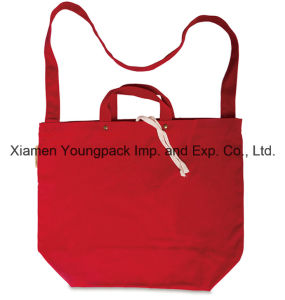 Fashion Custom Double Handles Red Cotton Canvas Tote Sling Bag pictures & photos