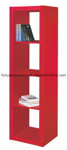 Wooden UV High Gloss Red Bookcase (5018)